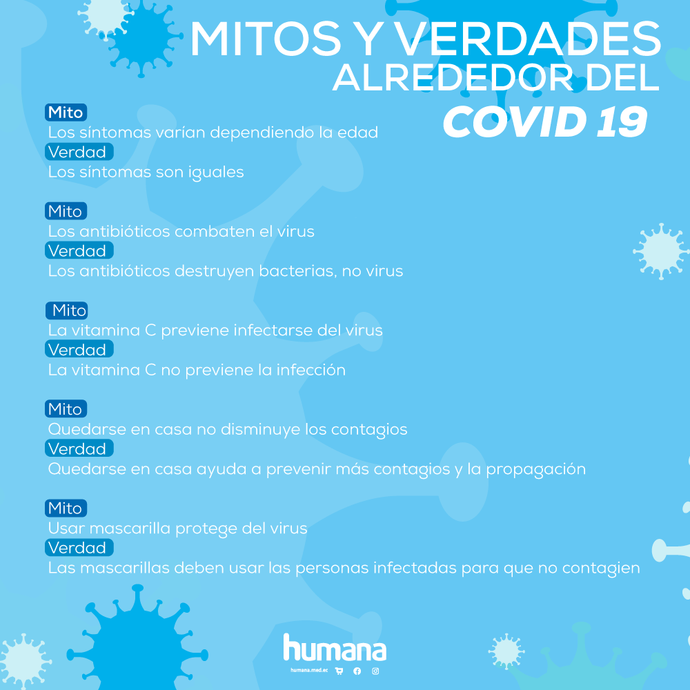 Mitos y verdades sobre el COVID-19
